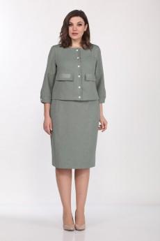Костюм с юбкой 2273 хаки Lady Style Classic