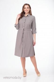 Платье 1999 бежево-серый LadyThreeStars