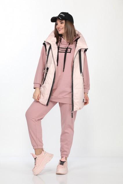 Спортивный костюм 4001 пудра+розовый Ladysecret