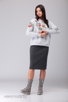 Костюм с юбкой 491 Lars Style