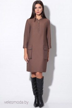 Платье 11164 коричневый  LeNata