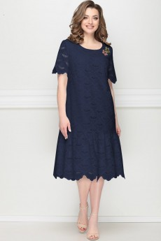 Платье 11202 темно-синий LeNata
