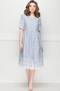 Платье 11203 голубая полоска LeNata