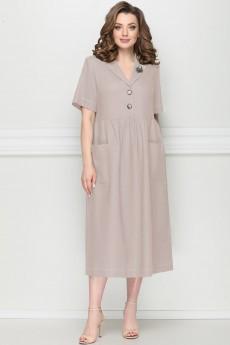 Платье 11205  светло-бежевый LeNata