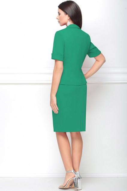 Костюм с юбкой 31117 зеленый LeNata