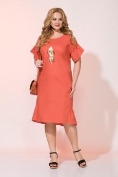 Платье 844N коралл Liliana-style