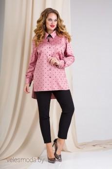 Костюм брючный 891В розовая пудра Liliana-style
