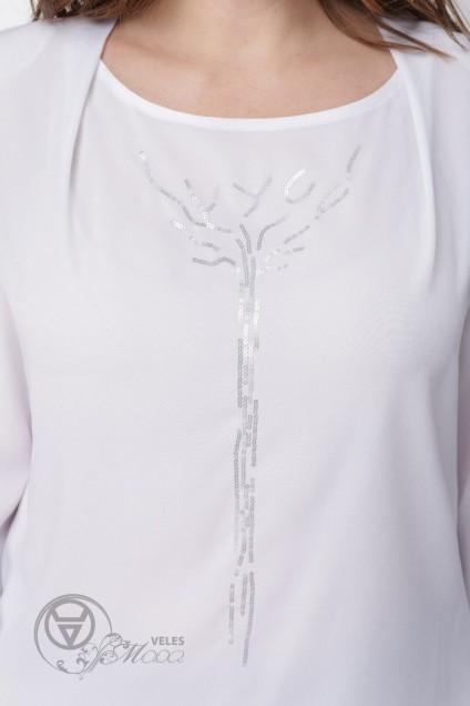 Блузка 1536 белый Linia-L