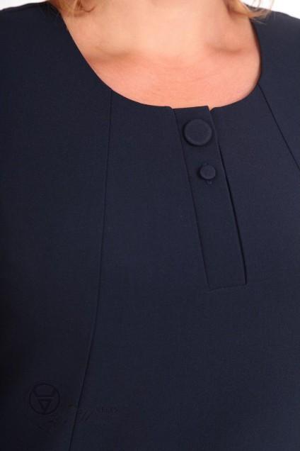 Платье 1561 темно-синий Linia-L