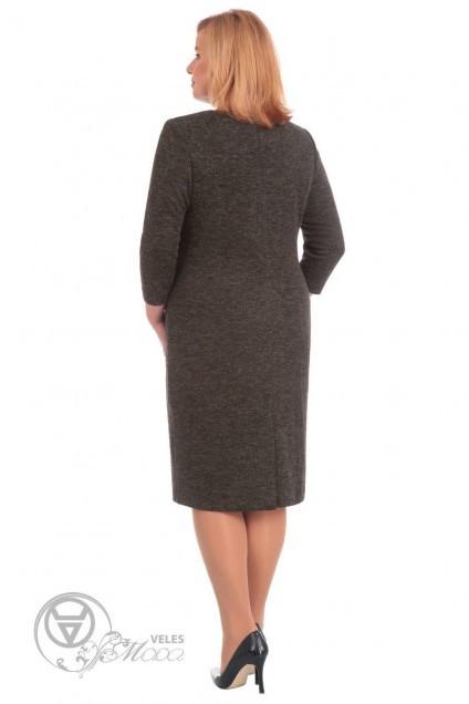 Платье 1593 серо-коричневый Linia-L