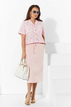 Костюм с юбкой 4244 розовый нюд Lissana