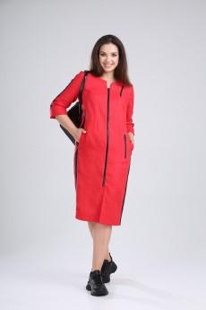 Платье 419-008 красный MALI