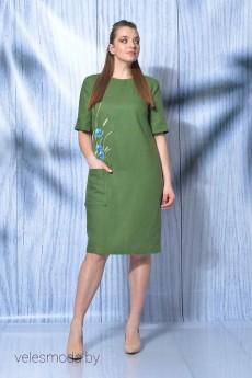 Платье 419-014 зеленый MALI