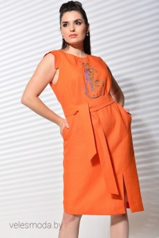 Платье 420-054 оранжевый MALI