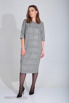 Платье 420-088 черно-белая клетка MALI