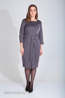 Платье 420-099П серо-фиолетовый MALI