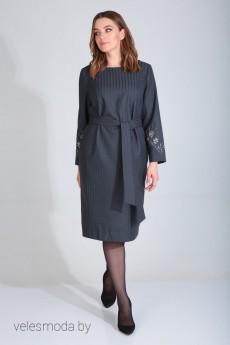 Платье 420-102 серый MALI