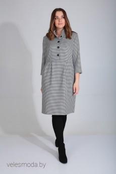 Платье 420-113 черно-белая клетка MALI