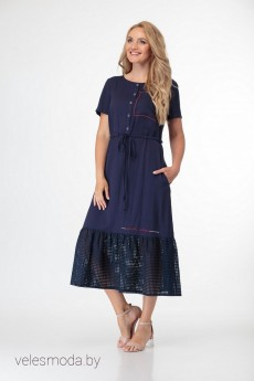 Платье 1678 темно-синий Магия Моды