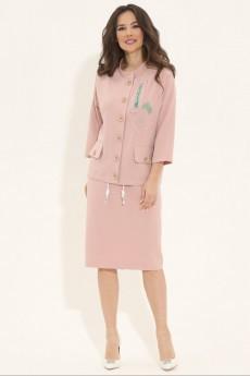 Костюм с юбкой 1785 розовый Магия Моды
