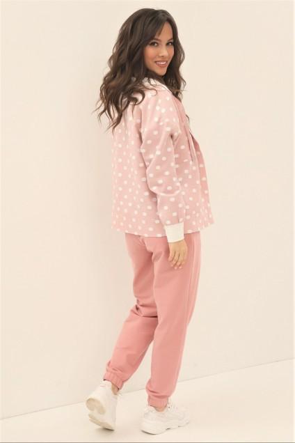Спортивный костюм 1874 розовый Магия Моды