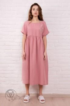 Платье 1762 пудра ID fashion