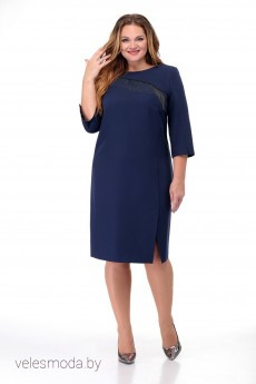 Платье 829 синий MichelStyle