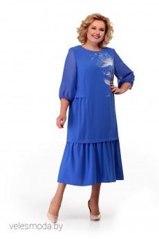 Платье 882 голубой MichelStyle