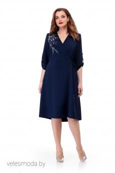 Платье 889 синий MichelStyle
