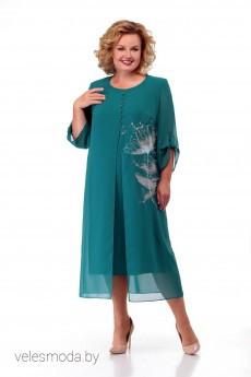 Платье 891 изумруд MichelStyle