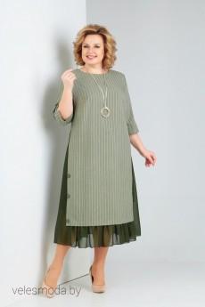 Платье 758 зеленый Milora