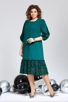 Платье 844 зеленый Milora