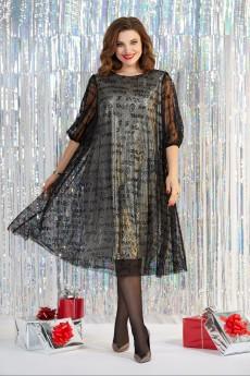 Платье 959 золото + черный Milora