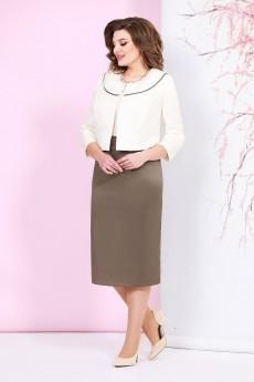 Костюм с платьем 4924 Mira Fashion
