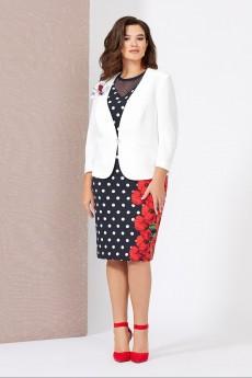 Костюм с платьем 5010 Mira Fashion