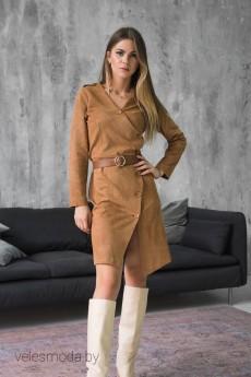 Платье 847 коричневый Mirolia