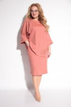Костюм с юбкой 1212 светло-розовый Michel Chic