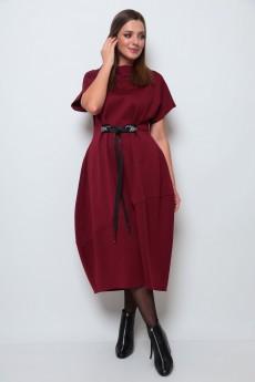 Платье 2066 бордовый Michel Chic