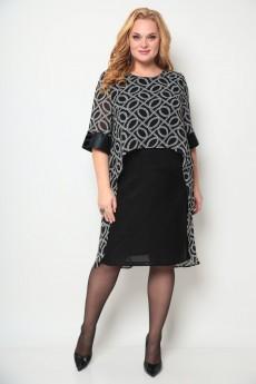 Платье 2072 черный Michel Chic