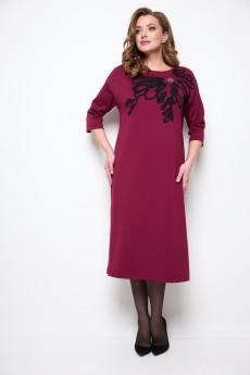 Платье 2076 бордовый Michel Chic
