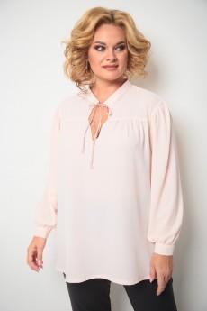Блузка 760 бледно-розовый Michel Chic