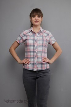 Рубашка 726 клетка Mita Fashion