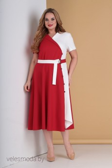 Платье 2196 красный Moda-Versal