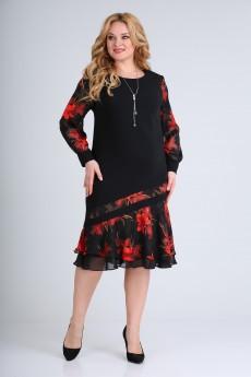 Платье 2211 черный красный Moda-Versal