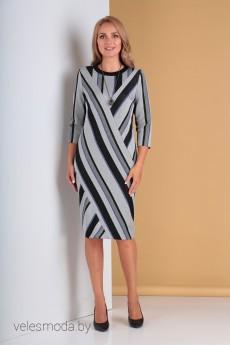 Платье 2221 голубя полоска Moda-Versal