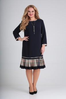 Платье 2233 темно-синий Moda-Versal
