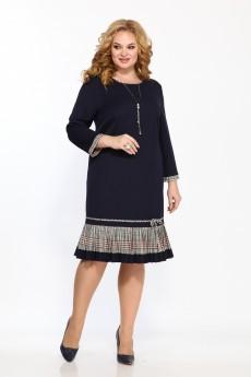 Платье 2233 темно-синий + зеленый Moda-Versal