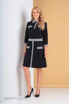 Платье 2243 темно-синий Moda-Versal