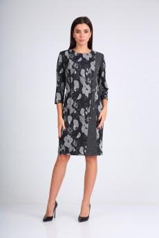 Платье 2347 серый Moda-Versal