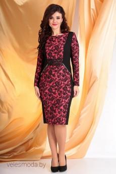Платье 2068 черный+красный Мода-Юрс